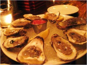 Local oysters at the raw bar